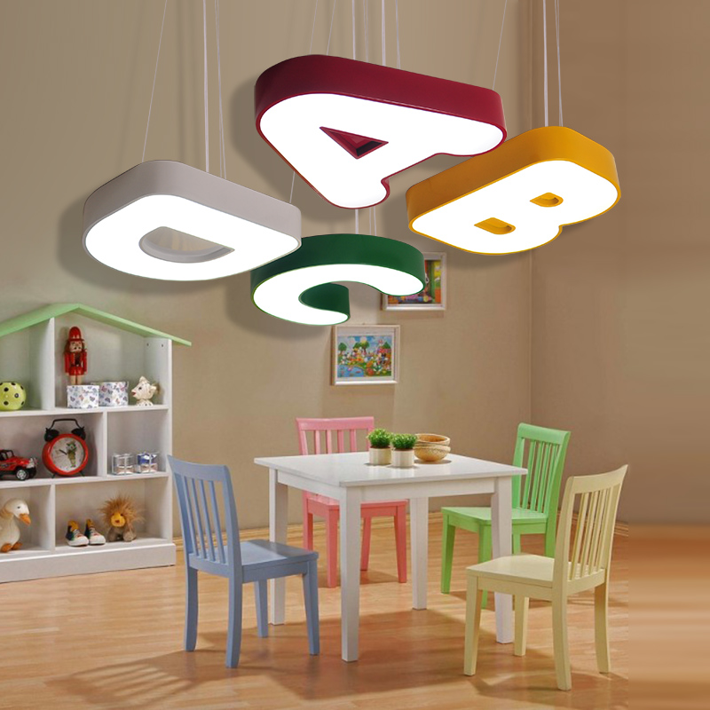 Creative cartoon letter lamp LED Ceiling Ligh children s lamp bedroom kindergarten early education maternal  infant clothing