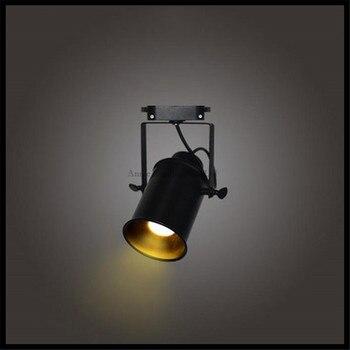 5 Вт свет Следа Старинные Черный следить СВЕТОДИОДНЫЕ лампы магазин одежды освещения Утюг Прожектор Промышленного Американский Стиле Лофт железнодорожных лампы