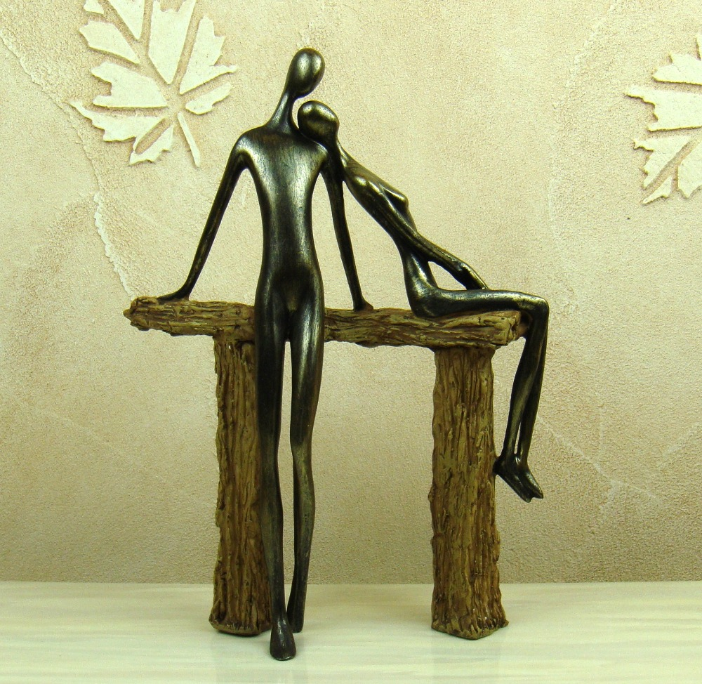 Abstract Resin Dating Item Figure Handmade Metal His and hers Lovers ...