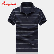 Men Strpe Polo Shirts Brand Summer Short Sleeve Casual Cotton Slim Fit Big Size M-6XL Business Breathable Polo Shirts SL-G11