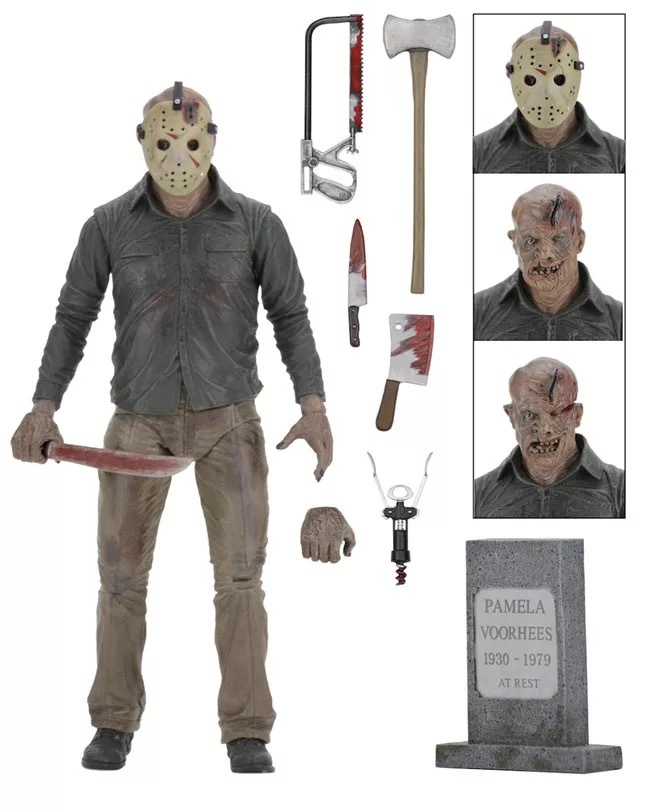 ALEN NECA Friday the 13th The Final Chapter Jason Voorhees PVC Action Figure Collectible Model Toy 7inch 18cm neca a nightmare on elm street 3 dream warriors pvc action figure collectible model toy 7 18cm kt3424