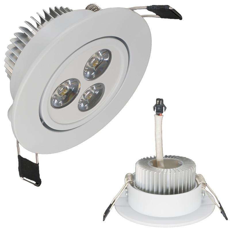 High Power Dimmable Led Downlights 3w 110v 220v Or 12v Driver Cri85 60anelg Led Recessed Spot Light Lamp Indoor Led Cabinet Lamp Lights & Lighting