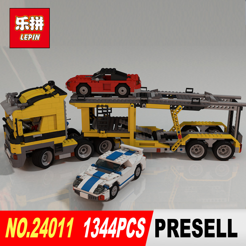 Lepin 24011 1344Pcs Technic Series The Three in One Highway Transport Set Educational Building Blocks Brick Toys Model Gift 675 compatible with lego technic creative lepin 24011 1344pcs 3 in 1 highway transport building blocks 6753 bricks toys for children