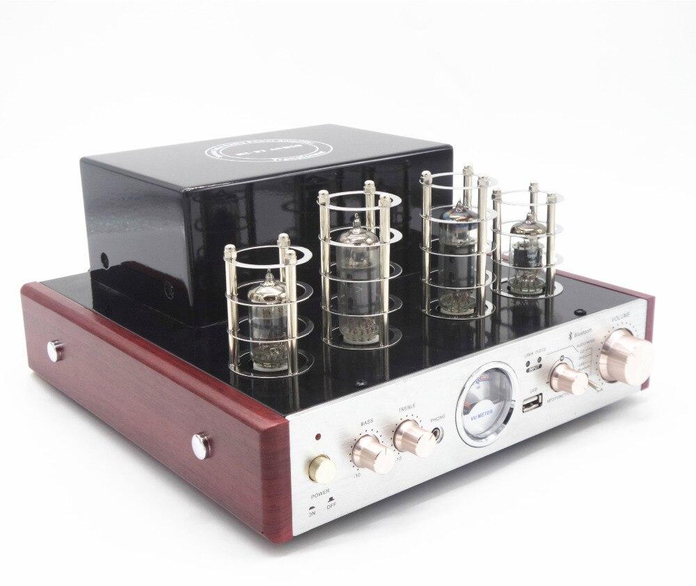 Серебристый USB MP3 плеер Беспроводной Bluetooth аудио усилитель tueb наушников стереодинамики усилители звук теплый ясно хорошо AMP