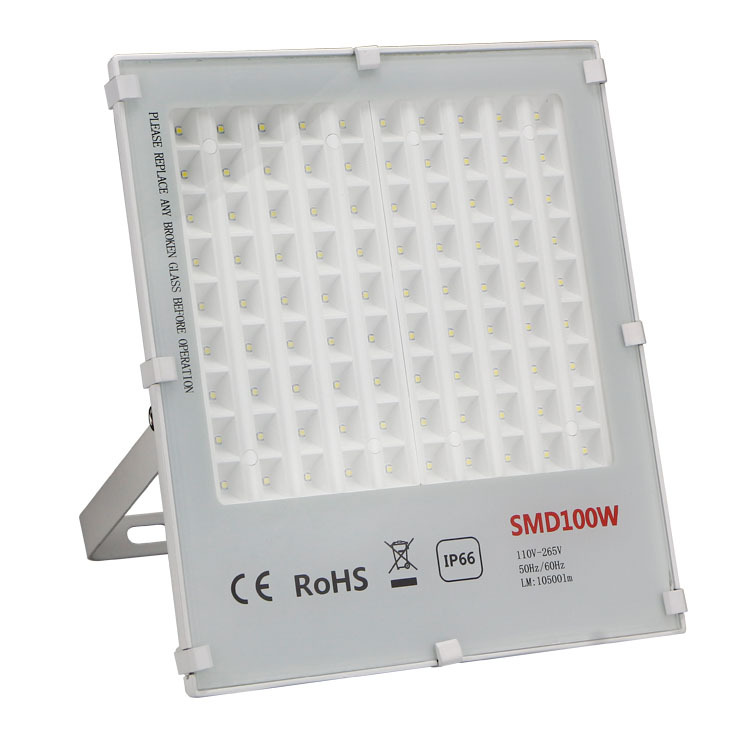 100W LED high power Flood light IP66 waterproof 220v Outdoor white cover led floodlight free shipping ultrathin led flood light 200w ac85 265v waterproof ip65 floodlight spotlight outdoor lighting free shipping
