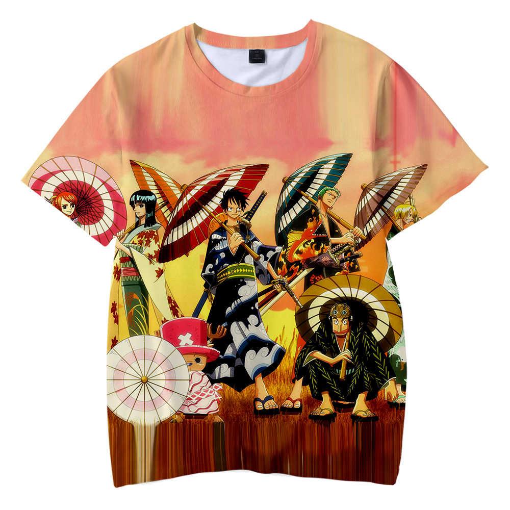 Mode Toevallige Kid's T-shirt Een stukken Jongens/Meisjes Zachte Harajuku Leuke T Shirt een stukken kinderen Cartoon Anime t-shirt Tees