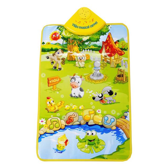 YiQu Multi-Funcional Animais Brinquedos Do Bebê Tapete Música 1month-24month Crianças Brincam Esteiras 60 cm * 40 cm Sons de Vegetação Rasteira tecido Esteira de Jogo
