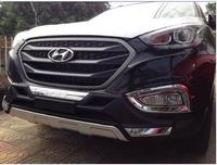 Front Fog Lamp Light Cover Glossy trim car chrome Car accessories styling sticker fit for Hyundai ix35 2014 2015