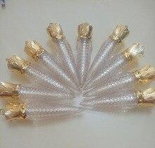 Tube vide pour brillant à lèvres, récipient en or, contenant, à bricolage soi même, tube transparent pour brillant à lèvres, 20/50pcs