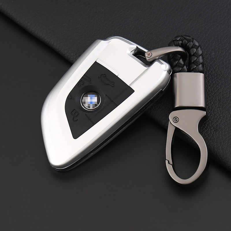 الكربون غطاء مفتاح سيارة سيليكون حالة ل BMW X1 X5 X6 F15 F16 F48 BMW 1/2 سلسلة مفاتيح حماية حالة سلسلة فوب اكسسوارات السيارات