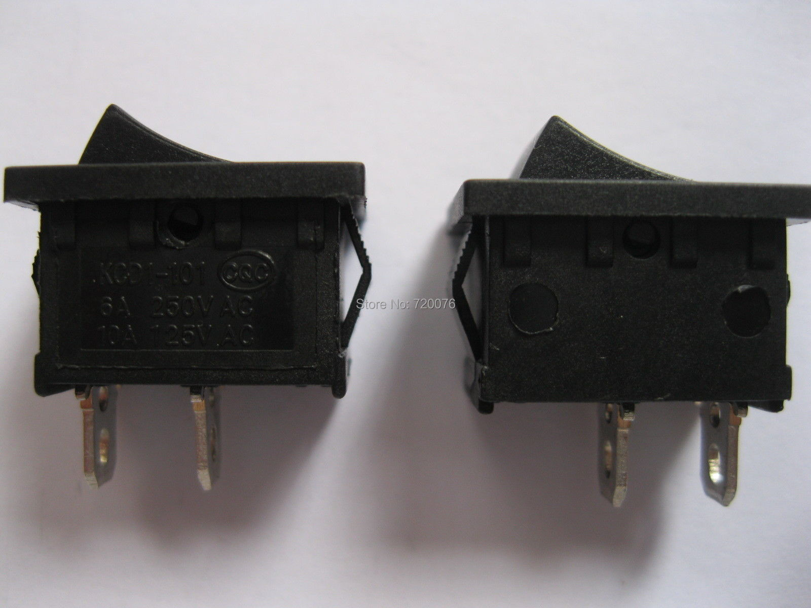 30 pcs Rocker Switch KCD1-101 ON/OFF Black Cap 2pin 6A 10A 21x15mm 30 pcs black on off dpdt rocker switch kcd3 6 terminal