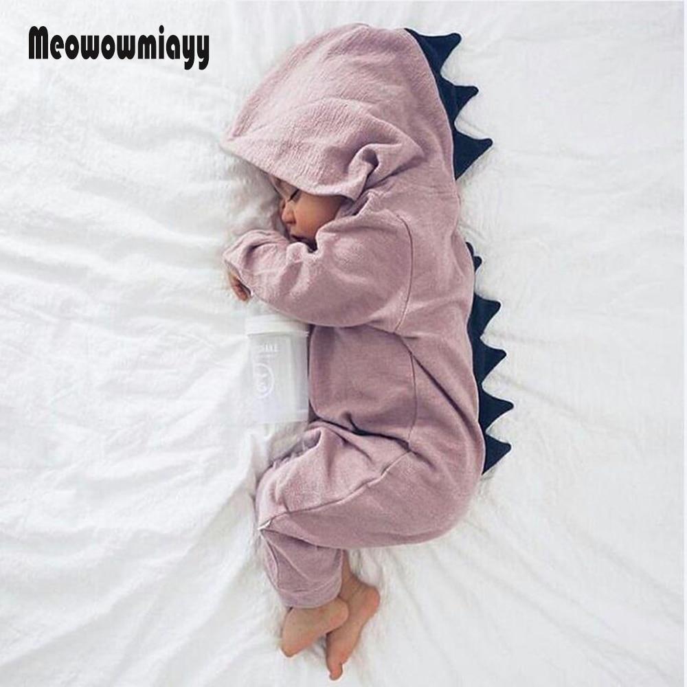 newborn baby clothes 2018 spring long sleeve dinosaur halloween