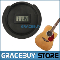 Acoustic Folk Guitar Sound Hole Cover Thermometer Hygrometer For 38 39 41 42 Inch Rubber Halt