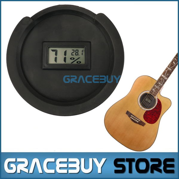 Acoustic Folk Guitar Sound Hole Cover Thermometer & Hygrometer for 38 39 4142 Inch Rubber Halt Avoid Whistling Noise solid wood guitar sound hole cover musical instruments anti whistle mute electric box folk acoustic guitar parts
