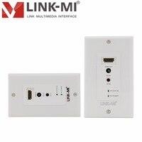 LINK-MI LM-EW60-3DIR Nord America Standard Piastra A Muro HDMI 60 M Singolo Cat5e/6 Extender IR Controllo DTV/HDTV 1080 p, 3D Video