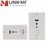 LINK MI LM EW60 3DIR North America Standard HDMI Wall Plate 60M Single Cat5e/6 Extender IR Control DTV/HDTV 1080p,3D Video
