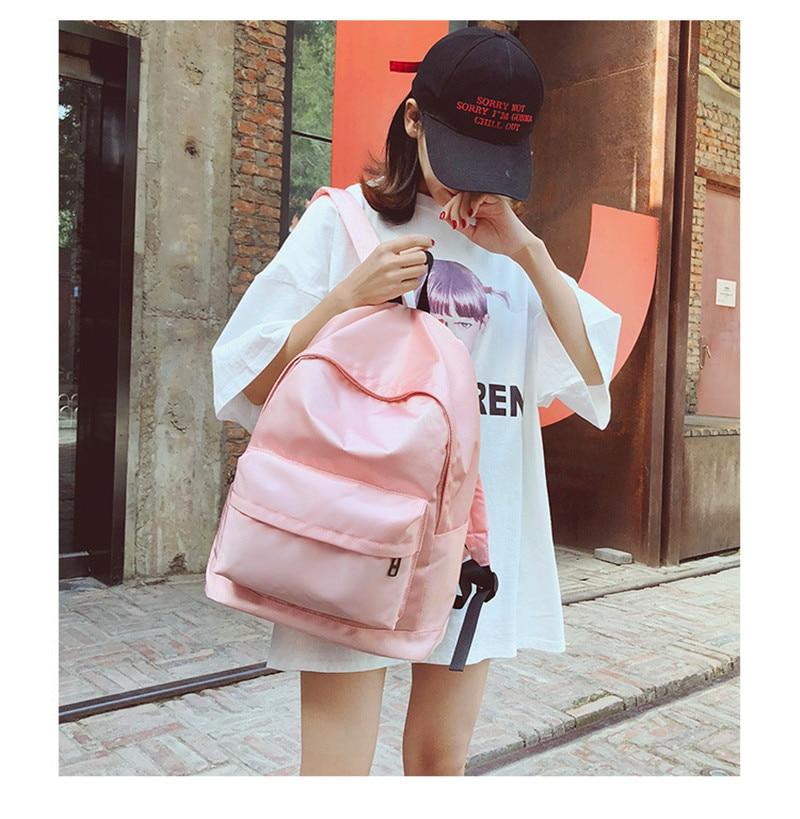Oxford Laptop Backpack Women 2018 Japan Style Minimalism Best Backpack For Adolescent  Girl Female Travel Leisure Shoulder Bag d01e85673c21f