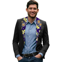 Fashion Man African Men Clothing Printed Black Men Suits Jacket Blazers African Festive Suit Africa Style Blazer Customized CD50