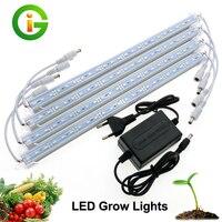 LED Grow Light 3 Red 1 Blue DC12V LED Light Bar Set IP68 A Prueba de agua/Cubierta No Transparente A Prueba de agua Con adaptador