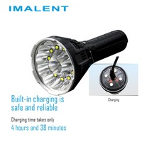 IMALENT MS12 Smart Flashlight Rechargeable 12 CREE XHP70 LEDs IPX 8 Waterproof 53000 Lumens with Intelligent Charging LED Torch