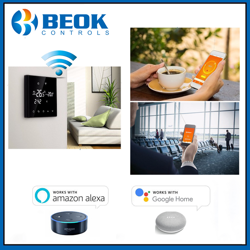 Beok WiFi Smart Thermostat TGT70WIFI-EP Electric Floor Heating Temperature Controller