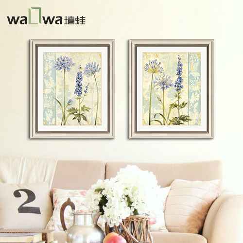 368ff999f6e0 Purple flower wall frog Fang American box sofa bedroom living room dining  study painting paintings decorative mural painting
