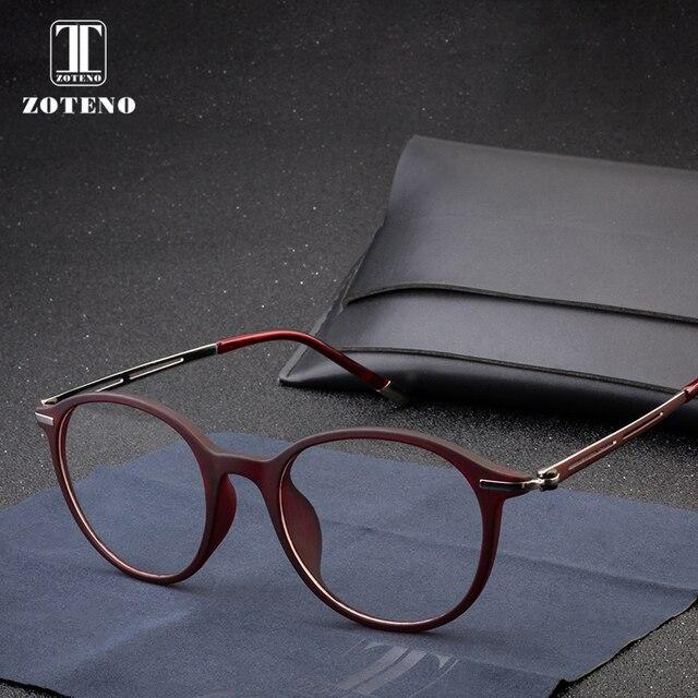 8b83879b08 TR90 Round Glasses Women Fashion Clear Myopia Optical Prescription Computer  Eyewear Frame Simple Design Women Glasses