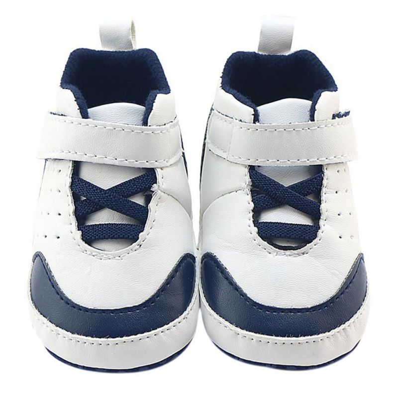 Baby Indoor Non-slip Toddler Shoes Baby Soft Bottom Sneakers Baby Boys Girls First Walkers PU Leather 0-18M