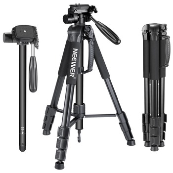 Neewer Camera Tripod Monopod Aluminum Alloy with 3-Way Swivel Pan Head Carrying Bag for Sony/Canon Portable 70 inches/177 cm professional q 668 pro slr camera aluminum alloy traveling tripod monopod with qzsd 02 changeable portable ball head 20%