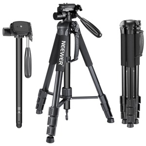 Neewer Camera Tripod Monopod Portable 70 inches/177 cm Aluminum Alloy with 3-Way Swivel Pan Head Carrying Bag for Sony/Canon
