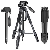 Neewer Portable 70 Inches 177 Centimeters Aluminum Alloy Camera Tripod Monopod With 3 Way Swivel Pan