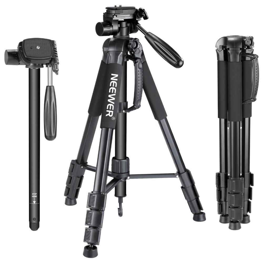 Neewer Portable 70 pouces/177 cm En Alliage D'aluminium trépied de caméra Monopode avec 3-Way Pivotant Pan Tête Porte Sac pour Sony/Canon