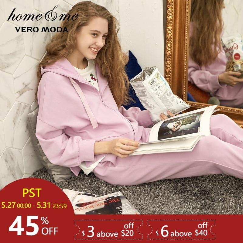 Vero Moda 2019 new hooded comfortable   pajamas     set   homewear 31838L501
