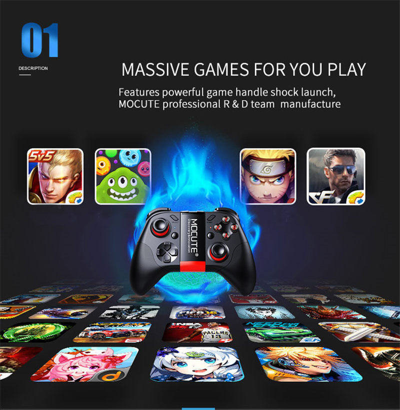 Bluetooth Gamepad Android Wireless VR Controller for Smartphone