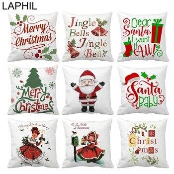 Laphil 45x45 cm funda de almohada de poli ster for Decoraciones de navidad para el hogar