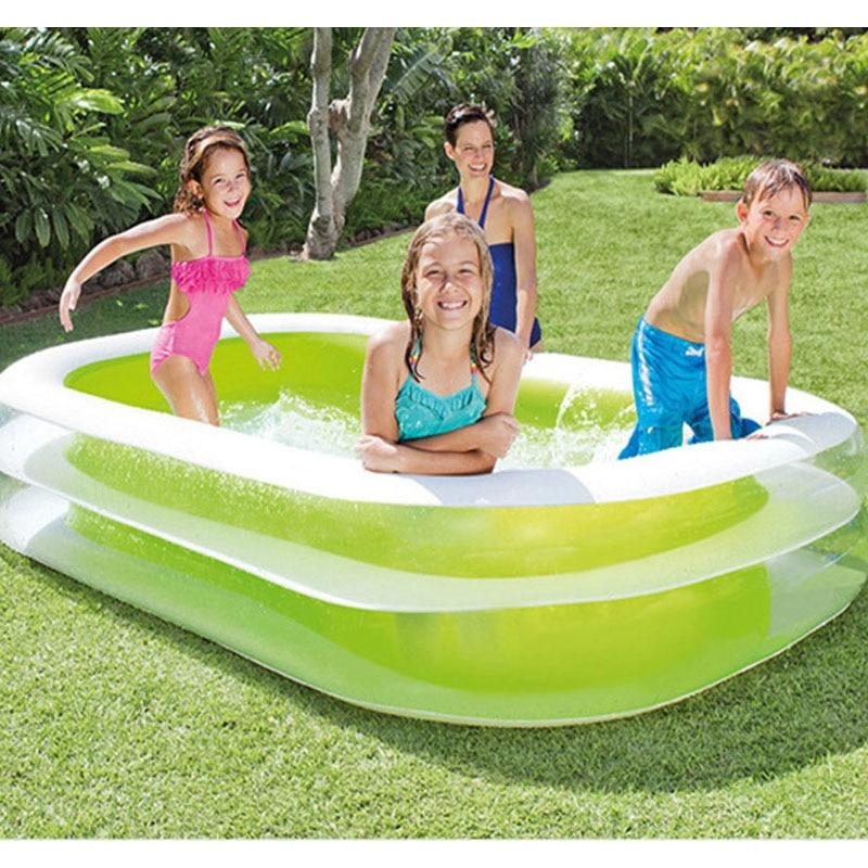 INTEX 262*175*56 CM Piscine Gonflable ronde Piscine Gonflable Piscine Gonflable famille Piscine Gonflable baignoire avec pompe
