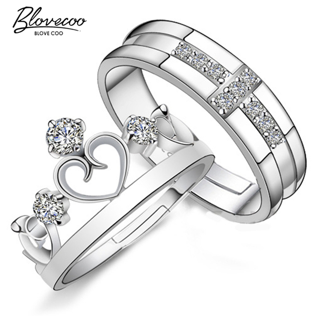 2be7983a6ef3 Silver crown ring opening couple of high-quality fashion jewelry  manufacturers