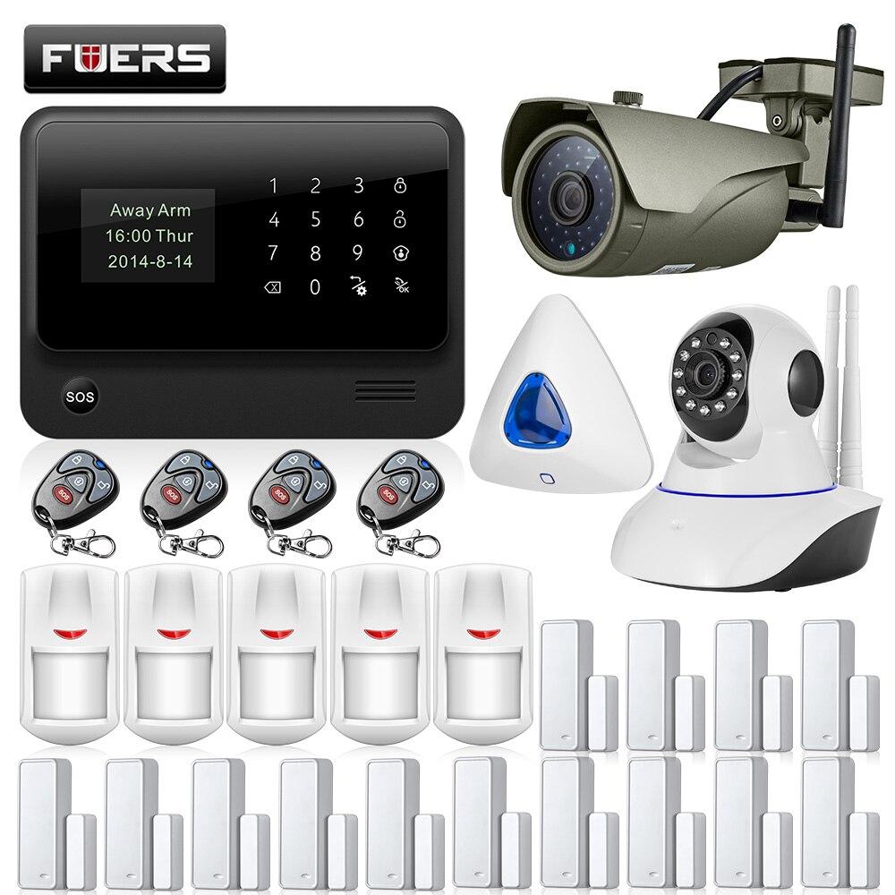 G90B Plus GSM WIFI z systemem Android IOS APP sterowania bezpieczeństwa w domu inteligentny nadzoru Flash syrena system alarmowy do domu sygnalizacji pożaru