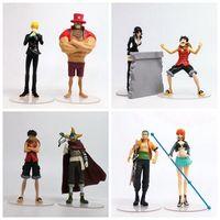 2pcs/set Anime Action Figure ONE PIECE TOY 3rd Season Vol.4 Robin Luffy Vol.3 Sanji Chopper ZORO Nami 16~19cm Model Collect Doll
