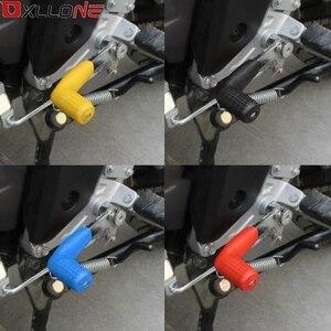 Image 5 - ユニバーサルオートバイギアシフトレバーゴム靴下ギアシフターブーツ靴シフトケースプロテクターカバーオリジナルステッカーダートバイク