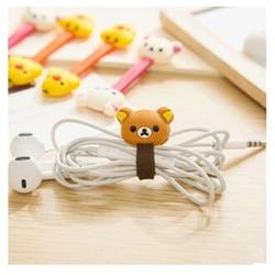 2 PCS Korean Double-Headed Cartoon Animal Cable Winder Easily Bear Chick Korea Desk Organizer Office Accessories School Supplies
