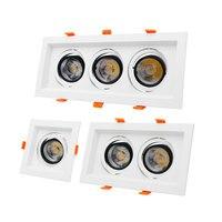 Square COB Downlight 10W 12W 20W 30W 36W Ceiling Downlight LED Bulb Lamp Recessed Spot Light