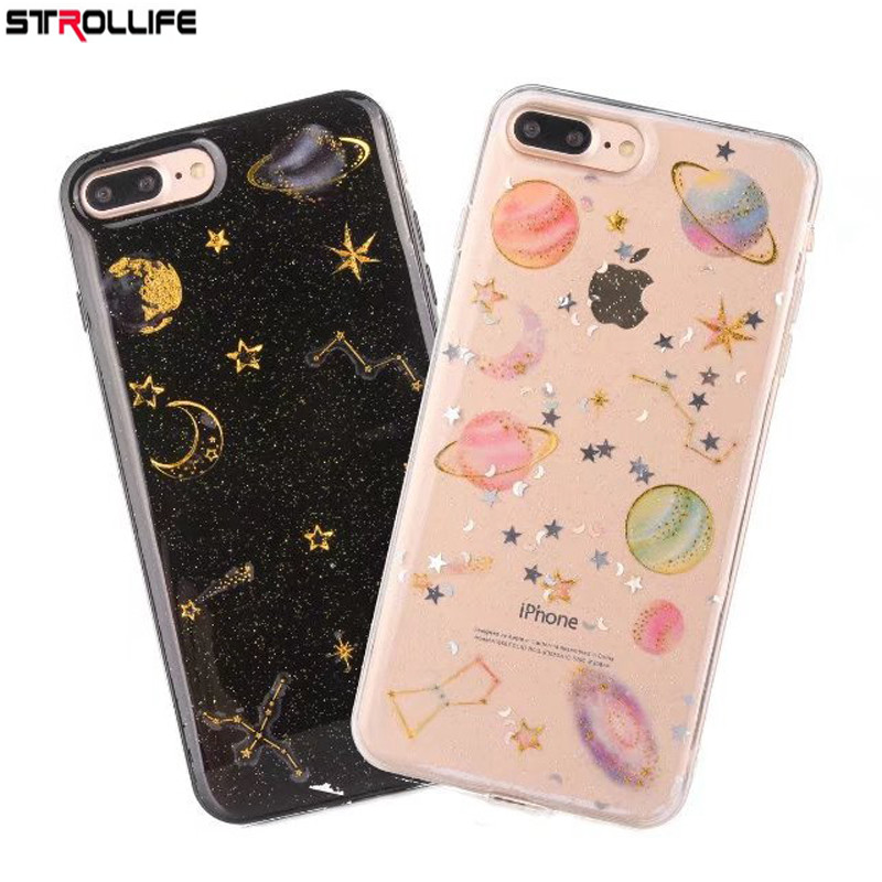 Phone Bags & Cases Strollife Cartoon Constellation Stars Sky Moon Shining Powder Bling Glitter Soft Gel Tpu Back Cover Phone Case For Iphone 8plus Relieving Rheumatism Cellphones & Telecommunications