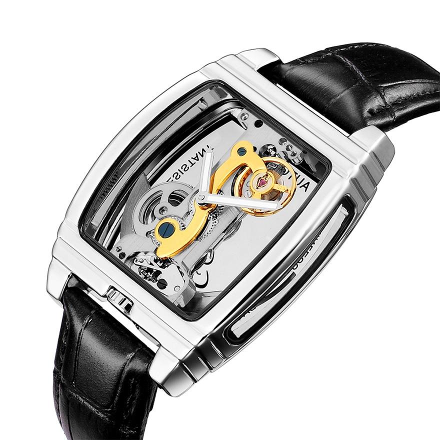 HTB1gIX.XLc3T1VjSZLeq6zZsVXaX Transparent Automatic Mechanical Watch Men Steampunk Skeleton Luxury Gear Self Winding Leather Men's Clock Watches montre homme