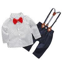 Baby Boy Clothes Newborn Clothing Sets 3pcs Set Infant Baby Boys Gentleman Dots Pattern Soft Shirt