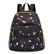 Waterproof Backpack Brand High Quality Oxford Leisure Or Travel Bag The universe of stars Black School Rural style Women