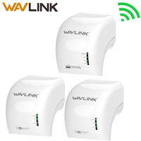 Wavlink 3 PCS 500Mbps Power Line Ethernet Adapter Extender High Speed Mini Plc Homeplug Network Powerlines