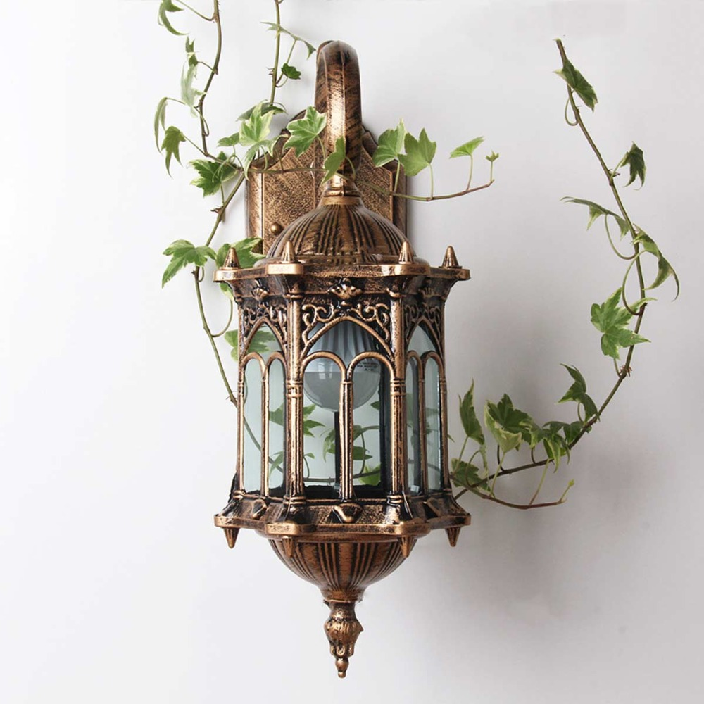 1pc Wall Sconce Homestia Brand Top Grade Retro Exterior Lamp Antique Bronze Lantern Aluminum Outdoor In Lamps From Lights
