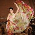 Роза 100% шелковицы шелковый шарф природный настоящее шелковый Женщины Длинные шарфы Шали Женский хиджаб wrap Летний Пляж сокрытия 175x108 СМ