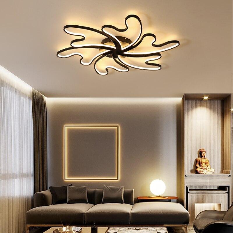 Lican lustre de plafond moderne Modern Wave Ceiling Lights LED Lamp for living room bedroom luminaire plafonnier Ceiling Lamp все цены